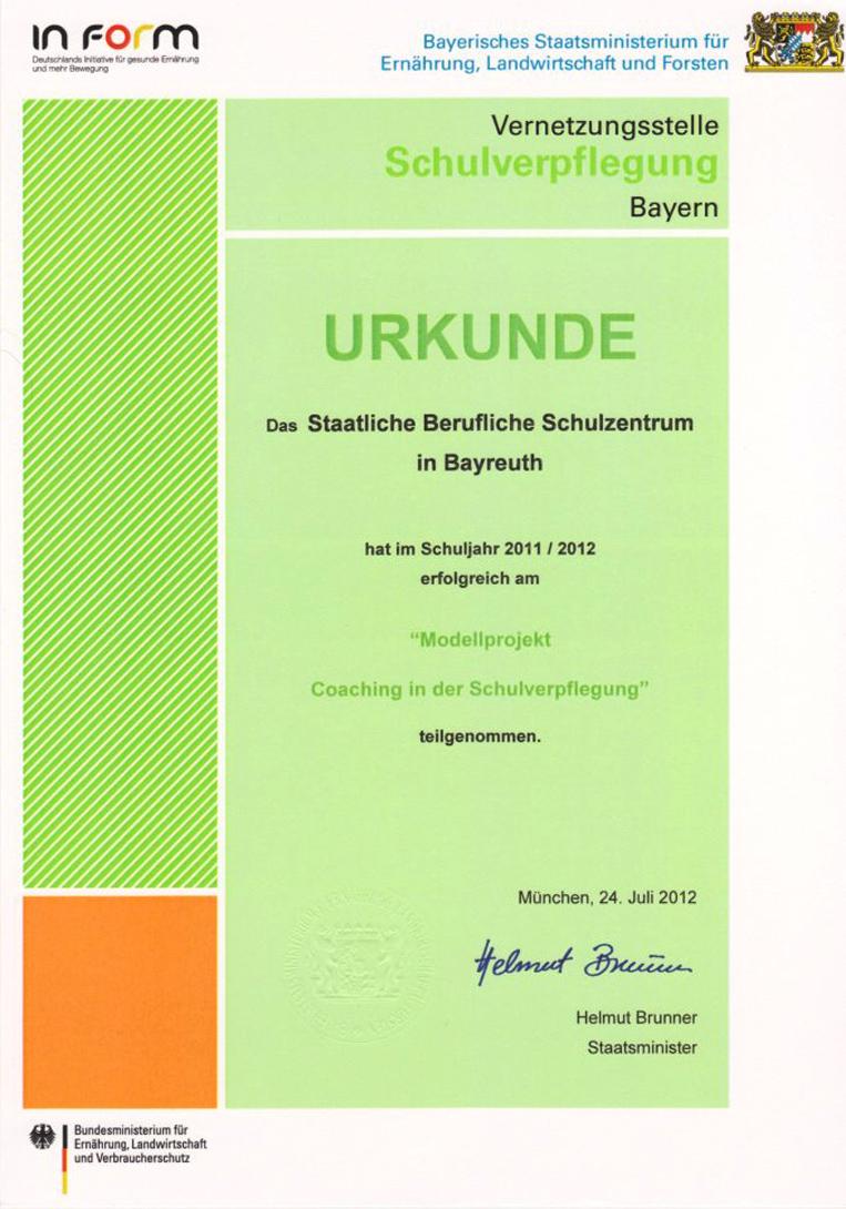 Coaching Bayreuth jahresveranstaltung der vernetzungsstelle schulverpflegung oberfranken gut essen tut schule
