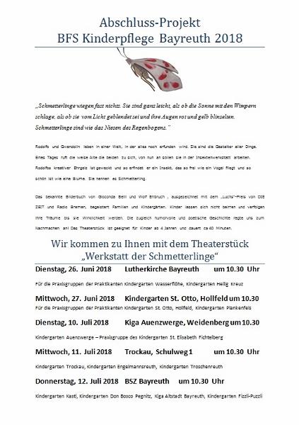 Abschluss-Projekt BFS Kinderpflege Bayreuth 2018